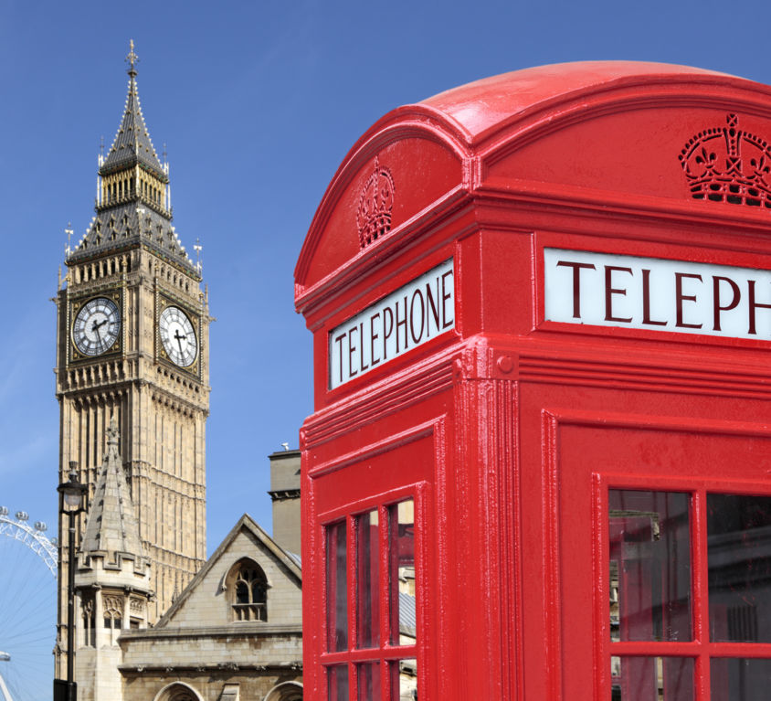 Telephone box with Big Ben