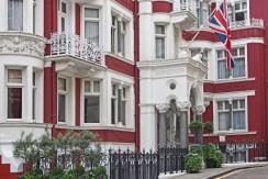 London, Mayfair district, elegant townhouse