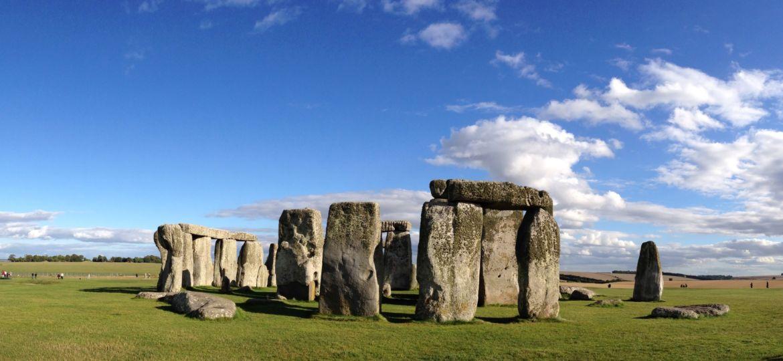 Stonehenge among blue sky